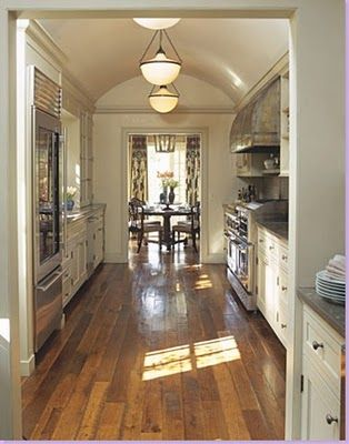 Country french galley kitchen for home pinterest for Country galley kitchen designs
