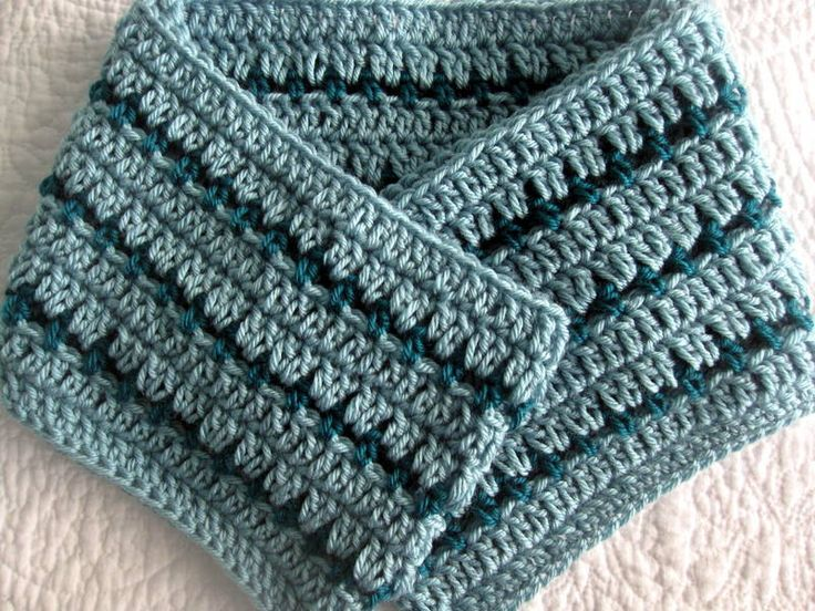 Free Crochet Pattern Striped Scarf : CROCHET PATTERN PDF - Striped Crochet Cowl / Infinity ...