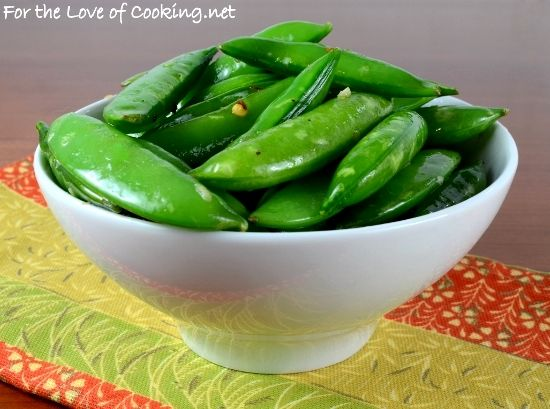Spicy Sugar Snap Pea Sauté with Garlic and Ginger