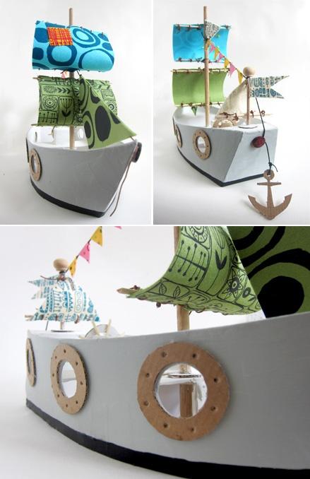 Поделки из картона кораблики 242