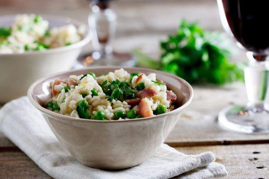 Risotto with peas & bacon (Risi e Bisi)