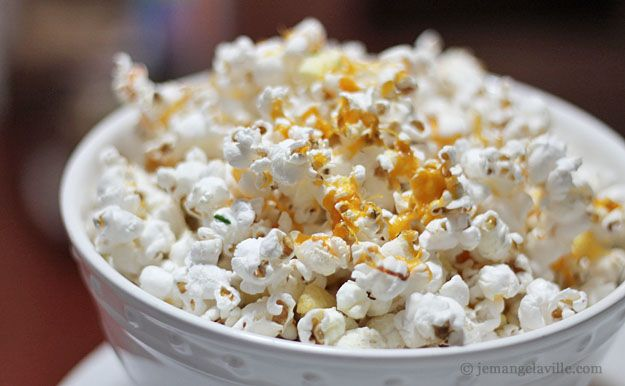 Apple, Cheddar & Rosemary Popcorn   Recipes   Pinterest