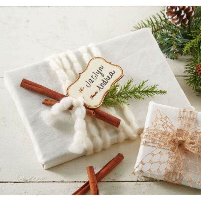 DIY Fabric Christmas Gift Wrapping   Gift Wrapping   Pinterest