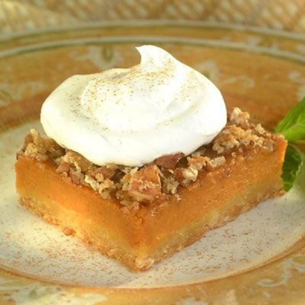 Pumpkin Pecan Pie Squares | We Know Our Pies | Pinterest