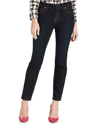 Curvy fit skinny ankle length dark rinse wash womens jeans macy s