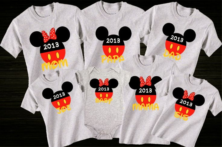 Disney world family vacation custom t shirts for Custom t shirts family vacation