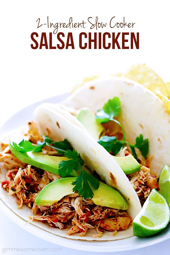 Ingredient Slow Cooker Salsa Chicken | GImme Some Oven