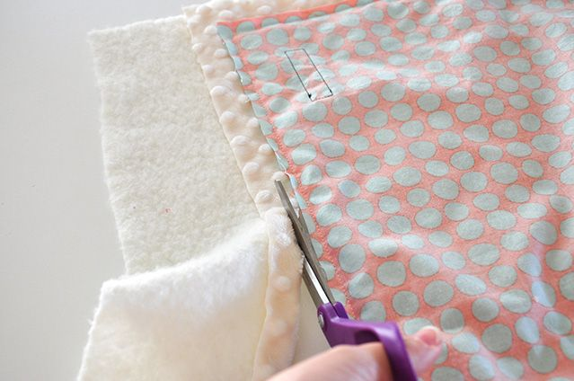 Minky Baby Blanket With Batting For Babies Pinterest