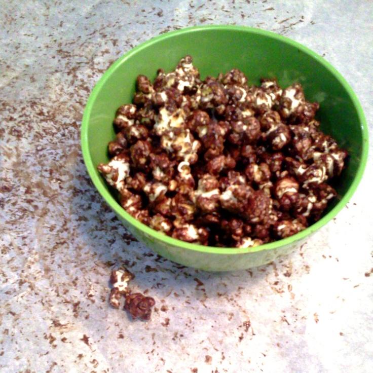 Salted Dark Chocolate Popcorn | Pinterest To Plate | Pinterest