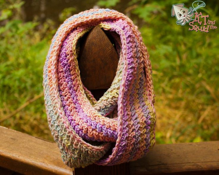 Crochet Scarf Patterns Worsted Weight : Infinity scarf for worsted weight yarn crochet Pinterest