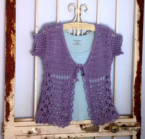 Crochet Xxl Patterns : Crochet Sweater Pattern Instant Download Isabel Short Sleeved Cardi ...