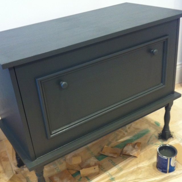cabinet painted in Dulux jewel grey  Colour  Pinterest