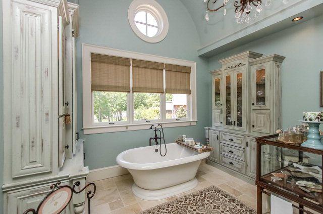 Beautiful Blue master bathroom dream home Pinterest