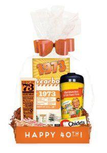 Birthday Gift 40th Bundle Basket Budget Friendly