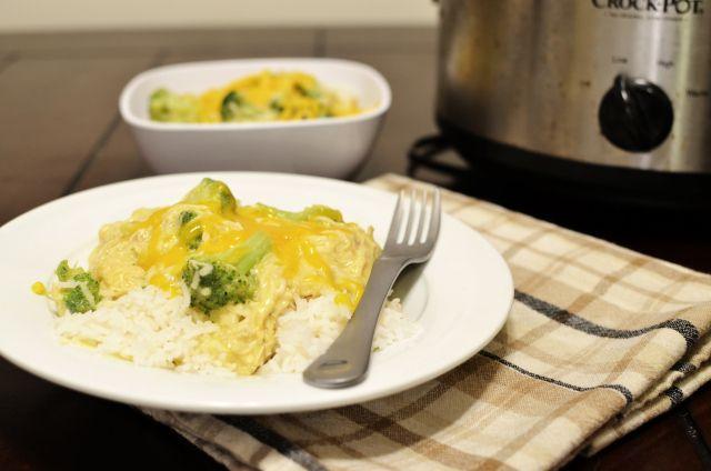 Creamy Chicken and Broccoli over Rice {Crock-Pot Recipe}