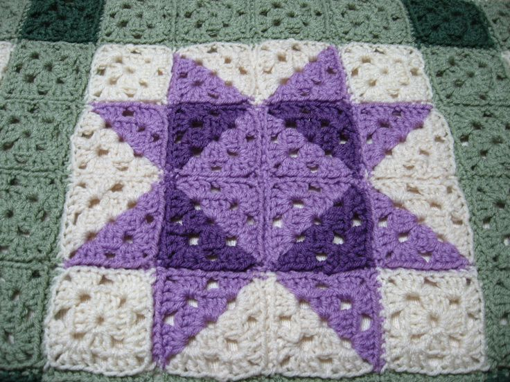 this crocheted afghan quilt to use up my left over yarn. I crochet ...