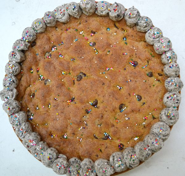 Giant Cookie Cake | Drop and Cut Out Cookies | Pinterest
