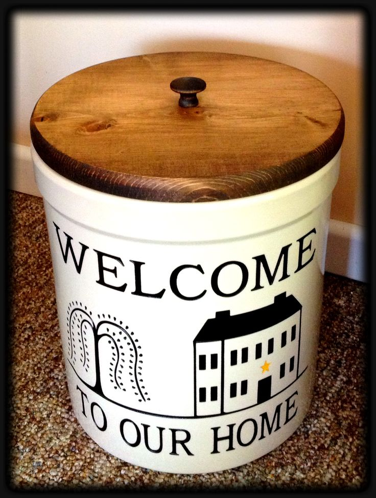 Personalized Willow Tree Crock made in Ohio by www.bakerspottery.com