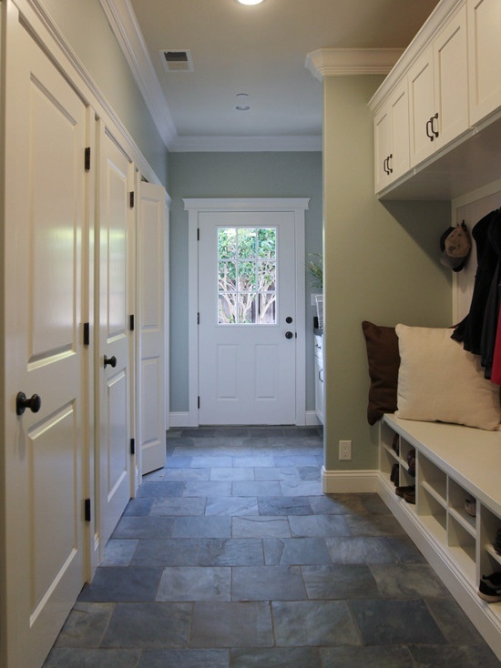 Mudroom floor with built in cabinets mudrooms and Mudroom floor