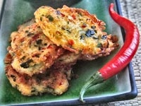 Healthy Thai Chili Ginger Crab Cakes | Food tips | Pinterest