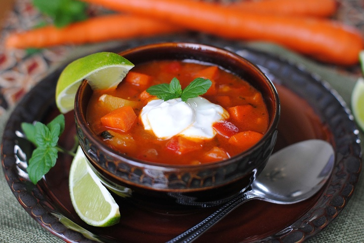 Moroccan Spiced Carrot Soup   Soup   Pinterest