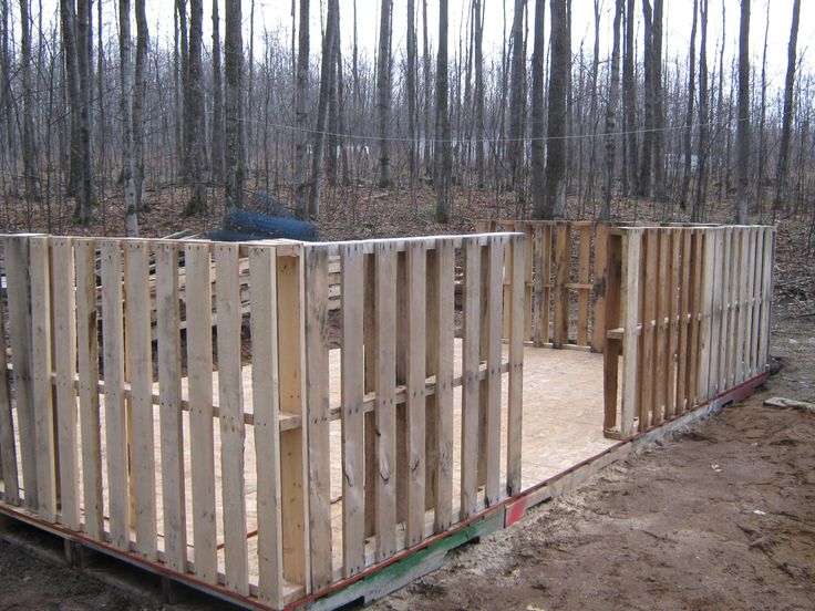 Building pallet sheds for How to build a pallet building