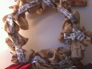 shoe online shopping Paris burlap wreath  I did it