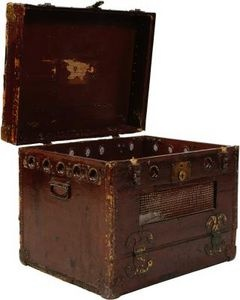 Painting antique steamer trunks - How to paint an old trunk ...