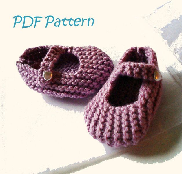 Baby Knitted Shoes Pattern : Free Mary Jane Baby Shoe Knitting Pattern