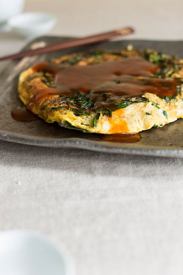 Chives Omelet Recipe — Dishmaps