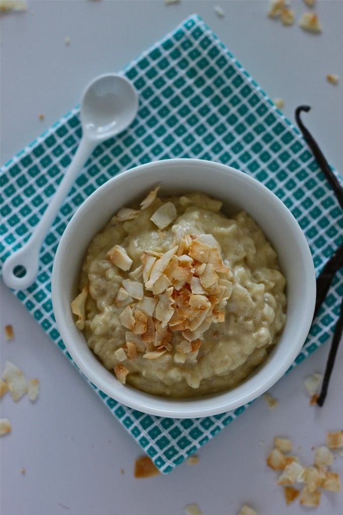 Coconut Vanilla Bean Rice Pudding | Recipe