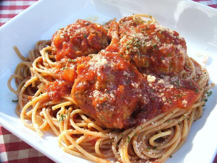 ... and Meatballs, meat sauce, clams, italian sausage...pasta pasta pasta