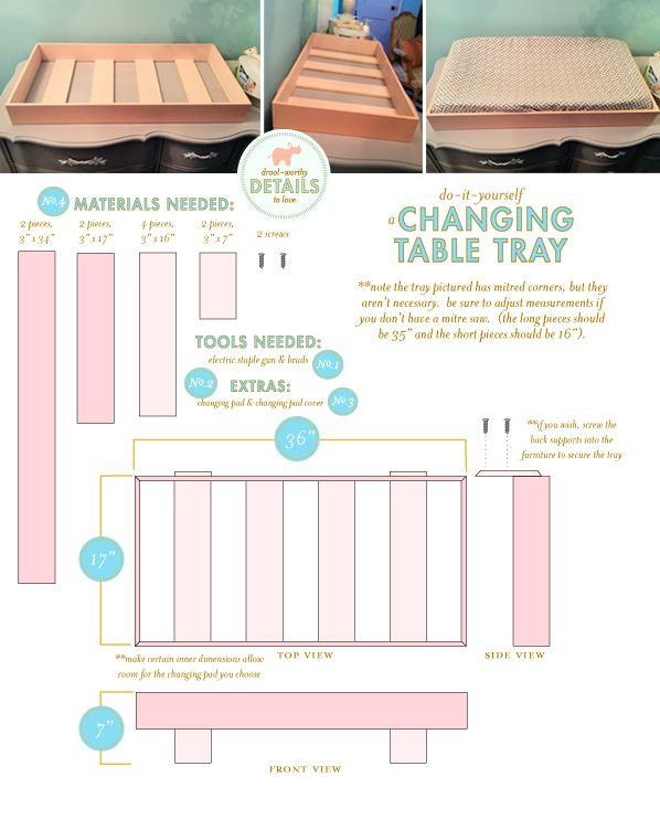 DIY Changing Table Tray from Lay Baby Lay