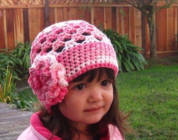 Crochet Hat Patterns With Instructions : Cute Stuff Beanie crochet hat pattern PDF - easy to make ...