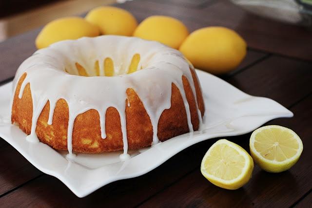 Easy Lemon Cake with glaze   RECIPES   Pinterest