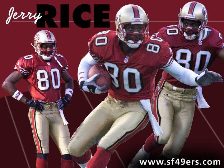 jerry rice number 80 for the 49ers san francisco 49ers