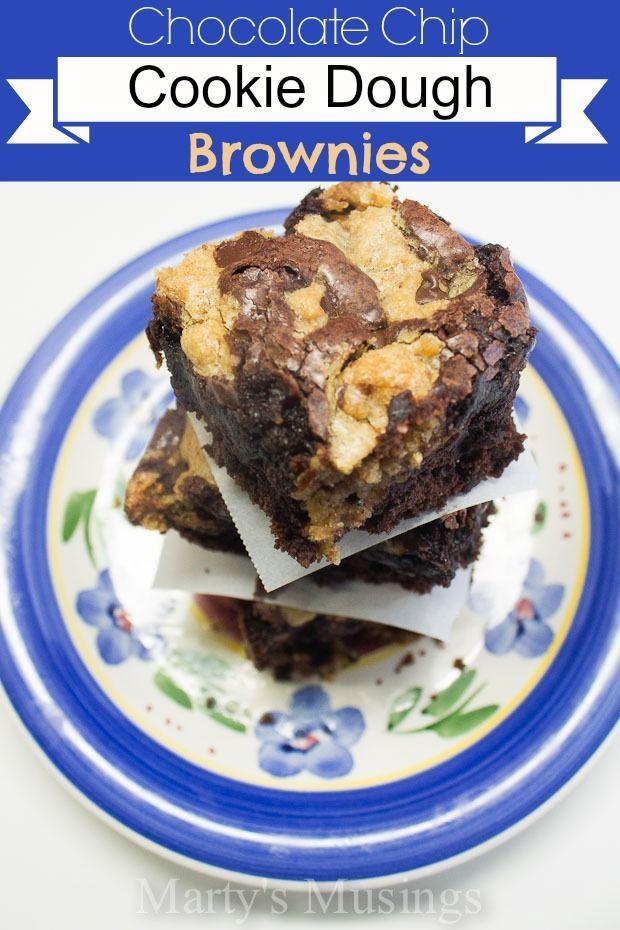 Chocolate Chip Cookie Dough Brownies. | indulge | Pinterest
