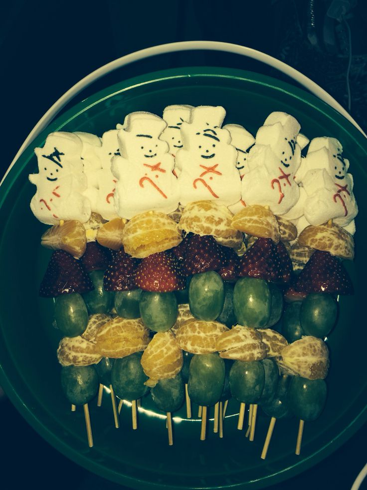 Holiday Fruit Kebabs with Peeps | Holidays | Pinterest