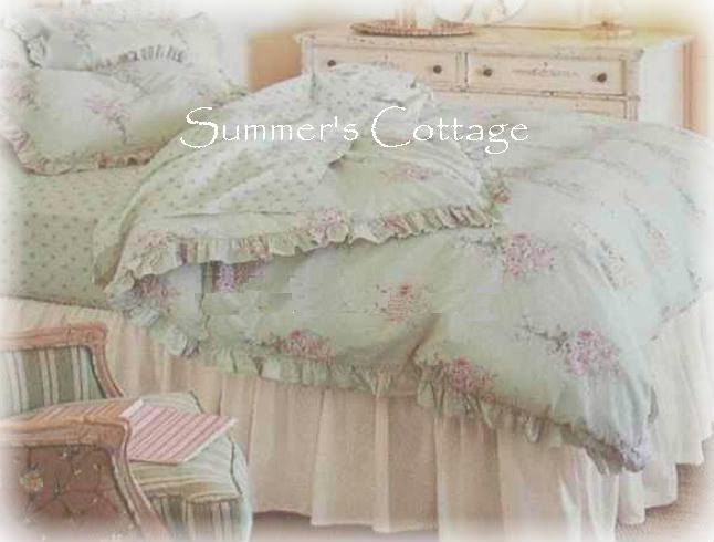Queen Rachel Ashwell Simply Shabby Chic Pink Roses Duvet