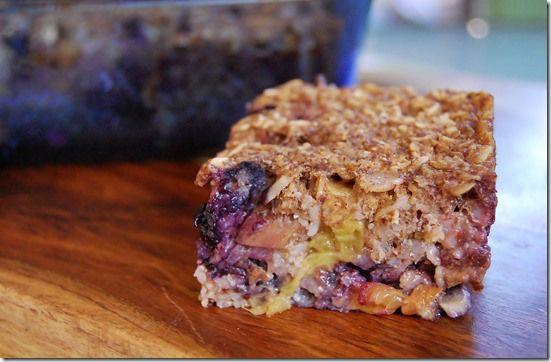 Vegan Baked Oatmeal Square | B-Fast | Pinterest