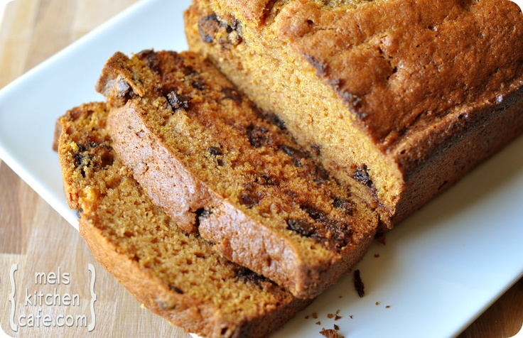 Perfect Pumpkin Chocolate Chip Bread | Made with white flour, whole ...