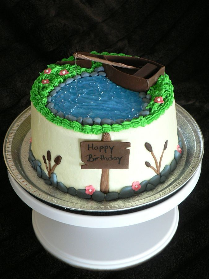 Fishing theme cake ideas pinterest for Fishing themed cakes