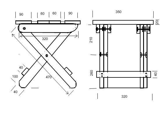 Как сделать раскладной стул для рыбалки своими руками чертежи 81