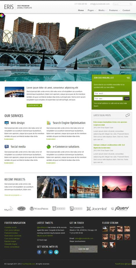Erisfree for Joomla template creator open source