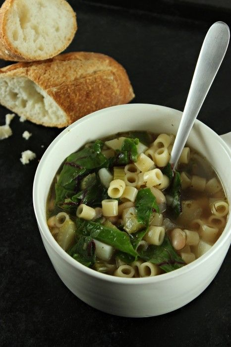 Tuscan White Bean and Swiss Chard Soup - @SolidGoldEats