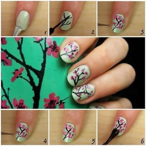 Arizona green tea inspired nail design