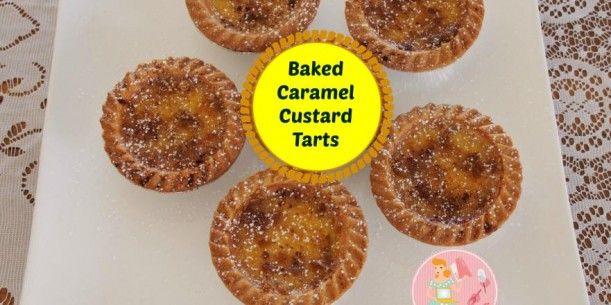 Baked Caramel Custard Tarts