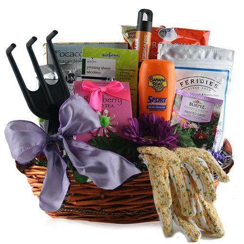 Garden Party Gardening Gift Basket Gift Ideas Pinterest