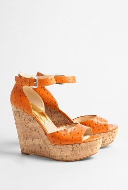 Michael Kors Tangerine Wedge. It was love at first sight.