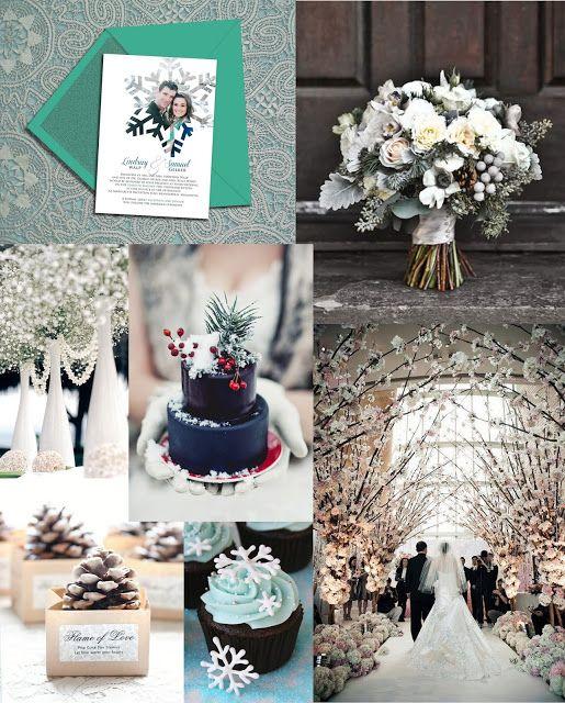 Winter Wedding Inspiration #snowflake #snow #white #christmas